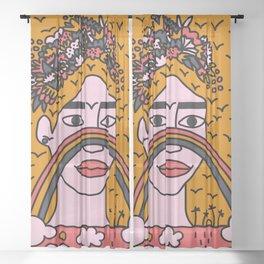 We are all Frida - rainbow girl named frida 2 Sheer Curtain