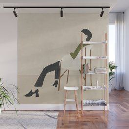 Eames Chair Woman Wall Mural