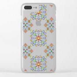 Ornamental Filigree Clear iPhone Case