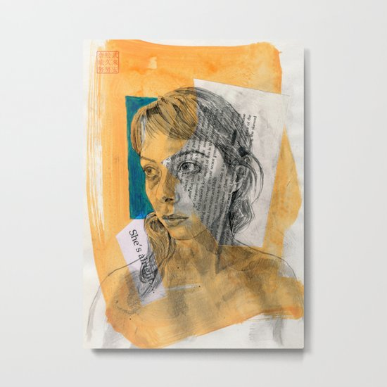 She's Alright Metal Print