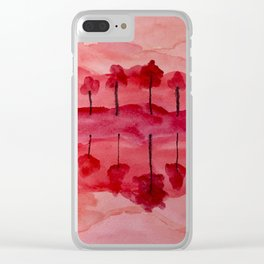 Hot Reflections Clear iPhone Case