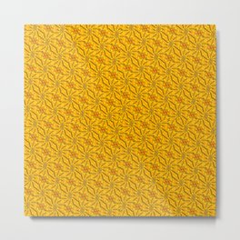 Muster - gelbe abstrakte Sonnenblumen Metal Print