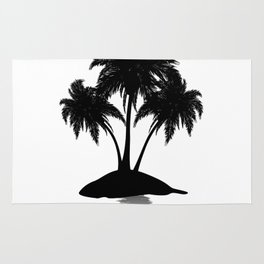 Small island silhouette Rug