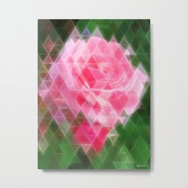 Pink Roses in Anzures 2 Art Triangles 2 Metal Print
