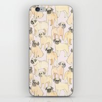 pugs iPhone & iPod Skins featuring Pugs by Sian Keegan