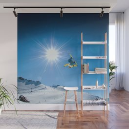 Snow time Wall Mural