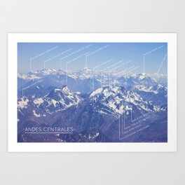 Andes Centrales Art Print