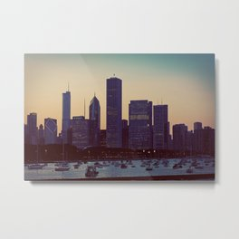Faded Chicago Metal Print