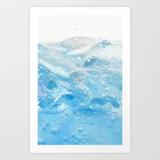 Ice and water Art Print