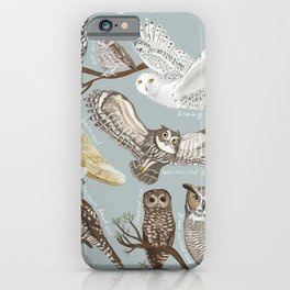 Owls Illustrated Chart iPhone Case