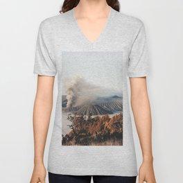 Volcano landscape Unisex V-Neck