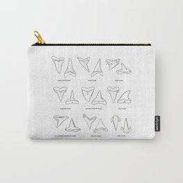 SHARK TEETH (WITH NAMES) Carry-All Pouch