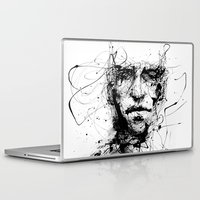eyes Laptop & iPad Skins featuring lines hold the memories by agnes-cecile