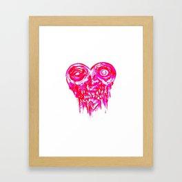 Zombie Infected Heart Framed Art Print