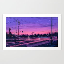 7 p.m. Art Print