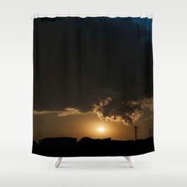 Communicative pollution Shower Curtain
