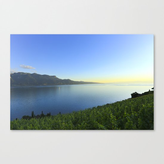 Sunset and Winery Canvas Print