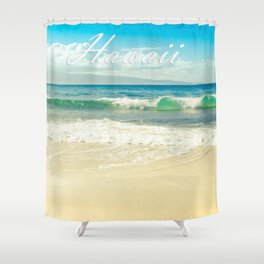 Hawaii Graphic Tropical Beach Decor Shower Curtain