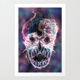 Psychedelic psy·che·del·ic Skull Art Print