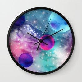 Vaporwave Pastel Space Mood Wall Clock