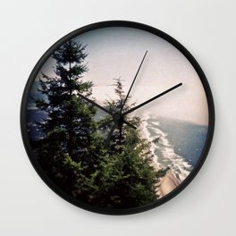 Neahkahnie Mountain Beach Oregon Coast Photo Forest Wall Clock