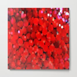 Sparkle Glitter Red Red Metal Print