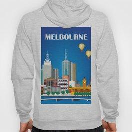 Melbourne, Australia - Skyline Illustration by Loose Petals Hoody