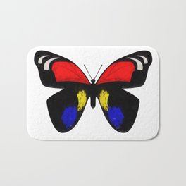 Red and Blue Butterfly Bath Mat
