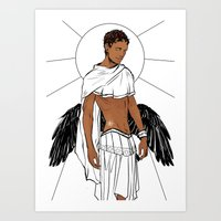 apollo Art Prints featuring Apollo by Cassandra Jean