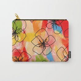 Hibiscus Family #1 - hibiscus illustration flower pattern floral painting nursery room decor Hawaii Carry-All Pouch