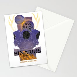 BINARIUS EPISODE I -- COVER (WHITE) Stationery Cards