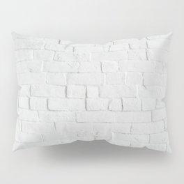 White Brick Wall - Photography Pillow Sham