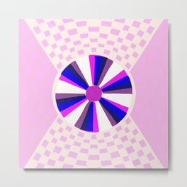 meditations, purple Metal Print
