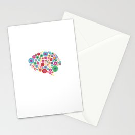 Flower brain Stationery Cards