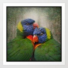 Rainbow lovers Art Print