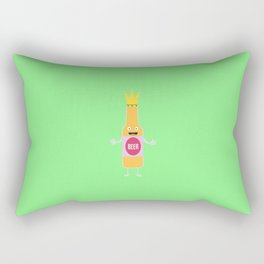 Queen Beer bottle with crone T-Shirt Dfq4y Rectangular Pillow