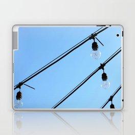 Light Bulb Art - Hanging Lights On Blue - Sharon Cummings Laptop & iPad Skin