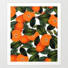 The Forbidden Orange #society6 #decor #buyart Art Print