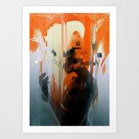 glitch Art Prints featuring glitch by HAW Design Studio