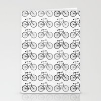 bicycles Stationery Cards featuring Bicycles by Zen and Chic