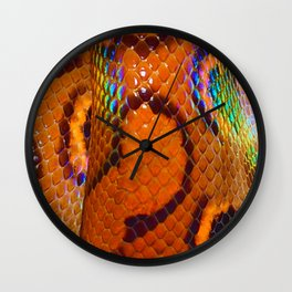 Rainbow Boa Wall Clock