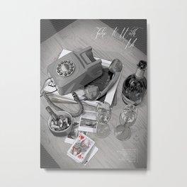 "Tom Waits ""Take It With Me"" Poster Metal Print"