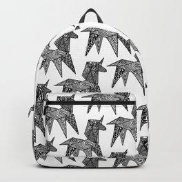 Unicorn Origami Illustration Backpack