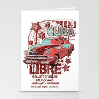 cuba Stationery Cards featuring Cuba Libre by Tshirt-Factory