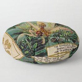 Gold of Rhine Vintage Mermaids Floor Pillow