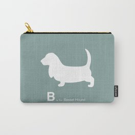 Basset Hound | Dogs series | Blue | Teal Carry-All Pouch