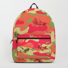 Charming Camo Hummingbird Camouflage Backpack