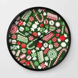 Christmas Candy Traditional Wall Clock