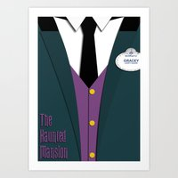 haunted mansion Art Prints featuring The Haunted Mansion Uniform by Tom Storrer