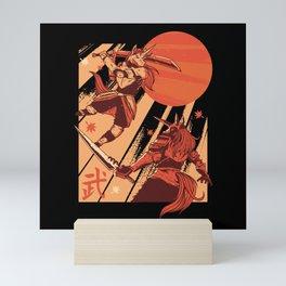 Unicorn Samurai Mini Art Print